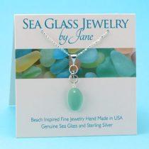 Aqua Teal Sea Glass Pendant