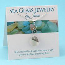 Shades of Gray Sea Glass Infinity Pendant