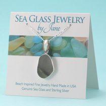 Amazing Shades of Gray Sea Glass Pendant