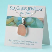 Funky Pink Sea Glass Pendant