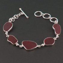 Rare Red Sea Glass Bracelet