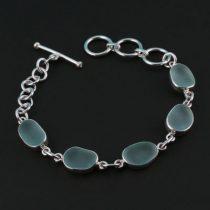 Sky Blue Sea Glassl Bracelet