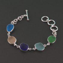 Five Pretty Colors Sea Glass Bracelet