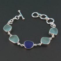Ocean and Sky Sea Glass Bracelet