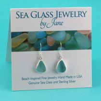 Alluring A-1 Aqua Sea Glass Earrings