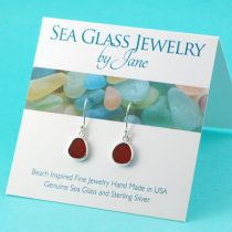 Cheery Cherry Red Sea Glass Earrings