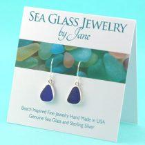 Chic-Cobalt-Blue-Sea-Glass-Earrings