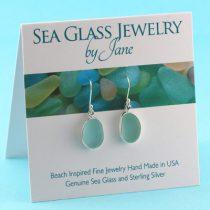 Adorable Aqua Sea Glass Earrings