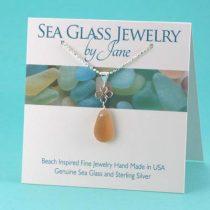 Amber Good Luck Sea Glass Pendant