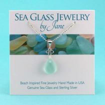 Sea Foam Green Good Luck Sea Glass Pendant