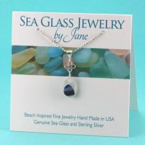 Shades of Blue Good Luck Sea Glass Pendant