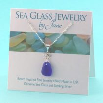 Cobalt Blue Good Luck Sea Glass Pendant