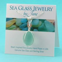 Lovely Antique Aqua Sea Glass Insulator Pendant