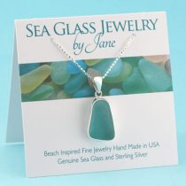 Pretty Aqua Sea Glass Pendant