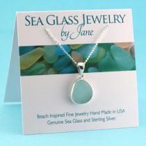 Sweet Aqua Sea Glass Pendant