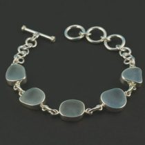 Sweet Sky Blue Sea Glass Bracelet