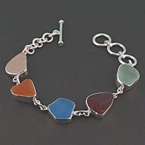 Five Fabulous Colors Sea Glass Bracelet