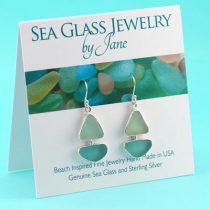 Aqua-&-Sea-Foam-Sea-Glass-Sailboat-Earrings