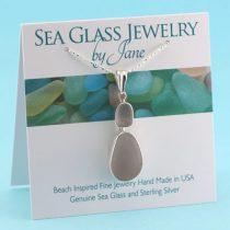 Luscious Lavender Sea Glass Bezel Set Pendant