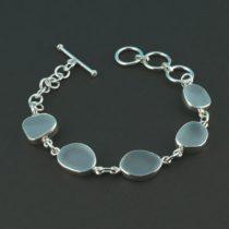 Serene Sky Blue Sea Glass Bracelet