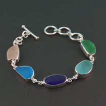 Five-Pretty-Colors-Sea-Glass-Bracelet