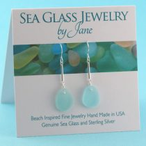 Serene Sky Blue Sea Glass Earrings