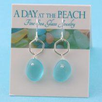 Artful Aqua Sea Glass Earrings