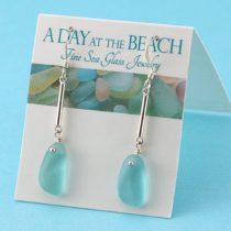 Awesomely Aqua Sea Glass Earrings