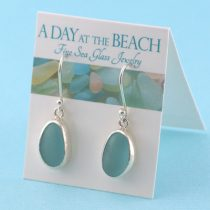 Alluring A-1 Aqua Sea Glass Earrings