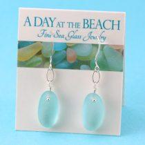 Charming Aqua Sea Glass Earrings