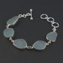 Blue Shades Sea Glass Bracelet