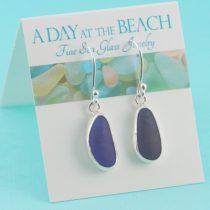 Chic Cobalt Blue Sea Glass Earrings