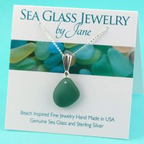 Tantalizing Teal Sea Glass Pendant